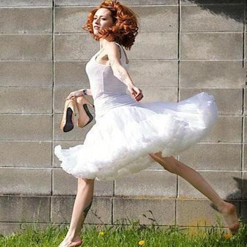 Women Teenage Girls Sexy Rockabilly Petticoat Party Dance Full Tulle Tutu Mini Swing Skirt 50s Vintage Short Dress White(China (Mainland))