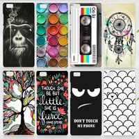 Case For Huawei Ascend P8 Lite Colorful Printing Drawing Plastic Hard Phone Cover for Huawei P8 Lite Transparent Phone Cases