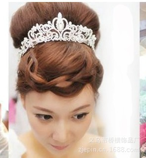 HG001 designed for quick spot buy crystal bridal tiara crown Korean bridal accessories in Europe and America(China (Mainland))