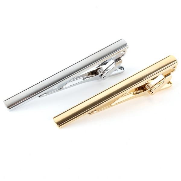 Wholesale Men's Formal Party Necktie Tie Bar Gold/Silver Metal Clasp Gentleman Tie Clip(China (Mainland))