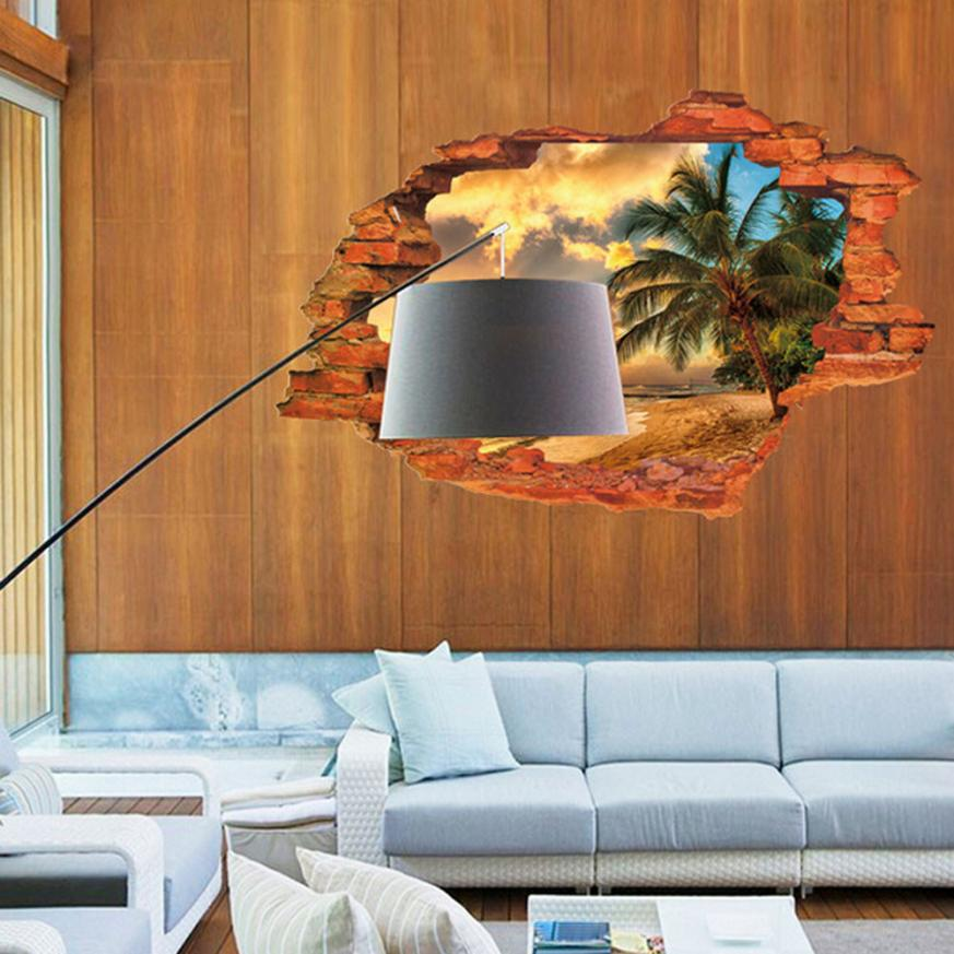 Popular wall decal window view buy cheap wall decal window for Super cheap home decor