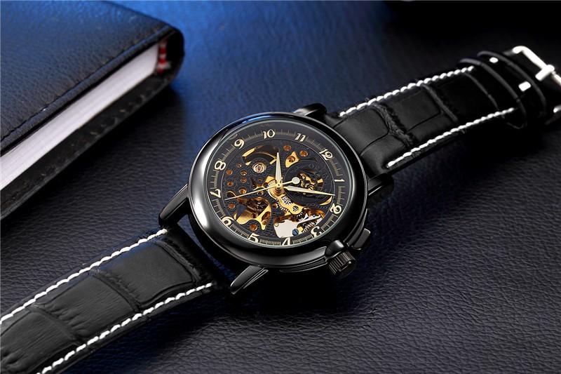 2016 новые оригинальные ORKINA полые киль нержавеющей стали автоматические механические часы мода человек люксовый бренд бизнес часы MG015