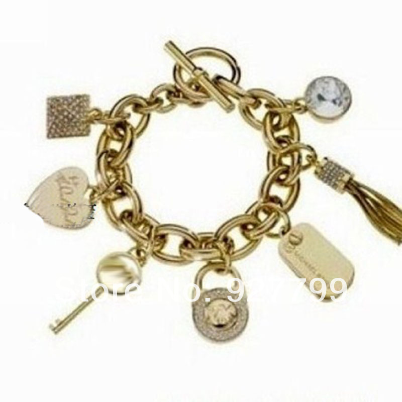 HOT SE;LL USA large brand Michael jewelry good quality gold alloy charms bracelets women (MIN15$) - YY Dot Boutique Fashion Shop store