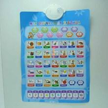 Russe anglais français portugais ABC électronique bébé alphabet apprentissage éducatifs paroi de la machine phonétique graphique toy étude(China (Mainland))