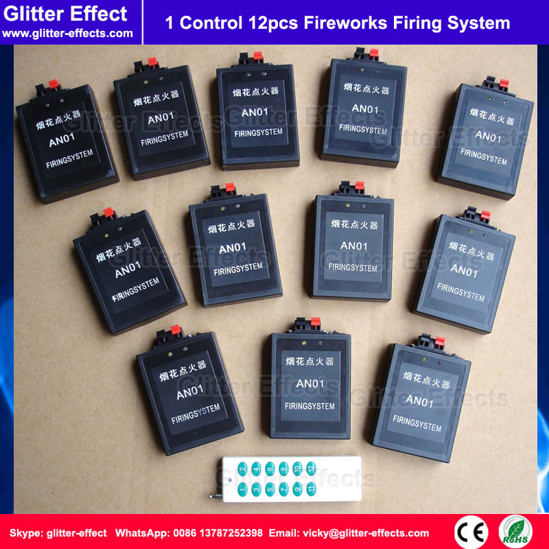 1 remote control 12pcs receiver Stage fireworks firing system fountain pyrotechnic safe Igniter pyrotechnics firing console(China (Mainland))