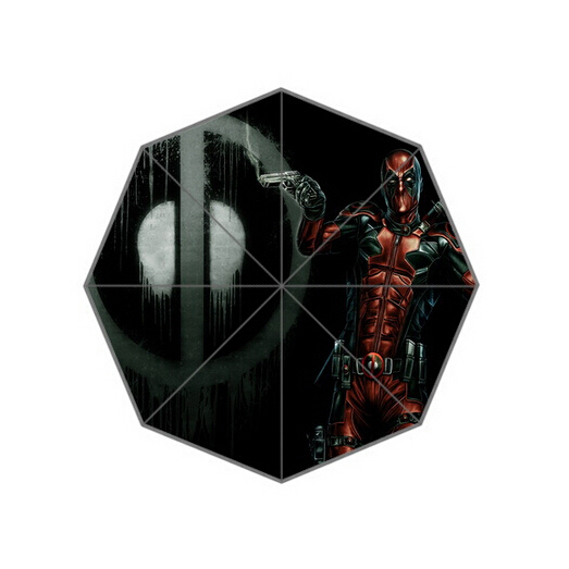 Comics Role Deadpool Outdoor Setting Custom Automatic Umbrella Three Fold Creative Sun/Rain Umbralla Free Shipping KO/377922(China (Mainland))