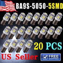 Hot Selling Car LED Lights 20pcs/lot T11 BA9S 5050 5smd led Xenon White Light Bulb Car 12V Lamp T4W 3886X H6W 363 bulbs for car (China (Mainland))