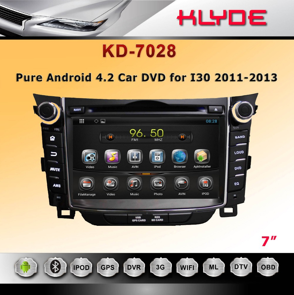 new products on the russian market double din car dvd for I30 2011-2013 with android(China (Mainland))