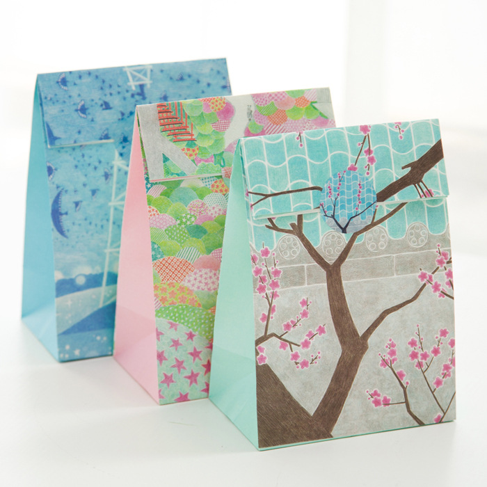(3 pieces/lot) Fresh Flower Paper Bag Gift Packaging Bag Christmas Gift Bag(China (Mainland))