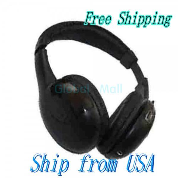 Ship From USA 5-in-1 3.5mm Wireless Earphone Headphone for MP3 PC TV CM034(China (Mainland))