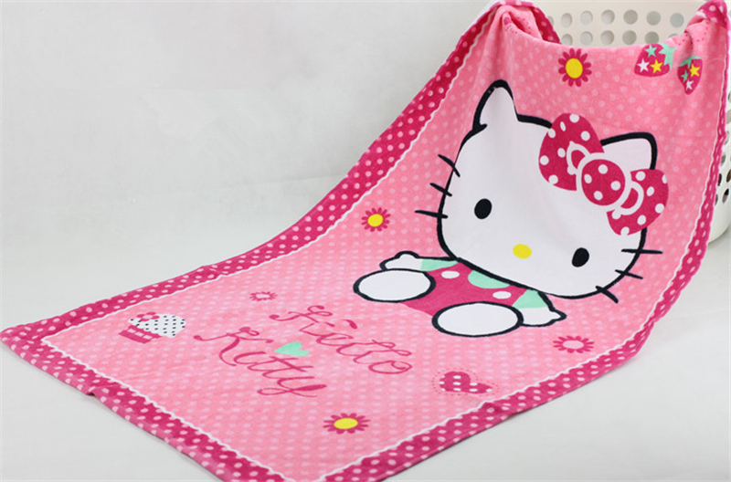 Hello Kitty Dragon Ball Large Children Bath Towels Cotton Beach Towel Kids Cartoon Quick Dry Towel Shower Products(China (Mainland))