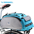 Roswheel Bicycle Bag Multifunction 13L Bike Tail Rear Bag Saddle Cycling Bicicleta Basket Rack Trunk Bag