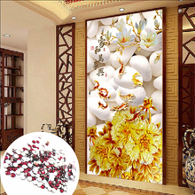 5D DIY diamond embroidery goldfish flowers pictures fully Shiny Round Rhinestone home Decor Painting cross Stich - Tianjue Store store