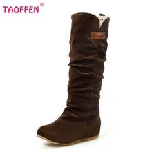 Tamaño 34-46 Mujeres Planas de Media Calidad Calzado Botas Cálidas Botas de Nieve Del Invierno de Arranque de Moda Feminina Zapatos P2394(China (Mainland))