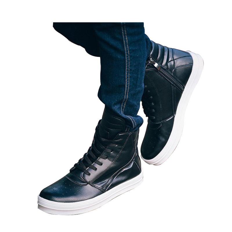 Cheap hot sale Korean style male Martin boots mode leisure high-top men boots owens high top skate shoes for man leather quality<br><br>Aliexpress