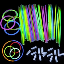 "50Pcs/lot 8"" Mix Glow Stick Light Bracelets Necklace Birthday Festive Party Vocal Concert Olympics Supplies 3-5hours Lighting(China (Mainland))"