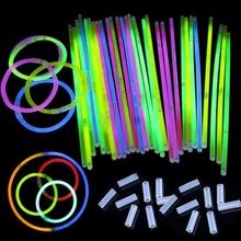 """50 Teile/los 8 """"Mix Knicklicht-armbänder Halskette Festliche Partei Vocal Concert Olympischen Liefert 3-5hours Beleuchtung(China (Mainland))"""