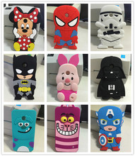 New Fashion 3D Cartoon Stitch Minnie Darth Vader Batman Sulley cat Soft Silicone Cover Case For Nokia Lumia 630 N630(China (Mainland))