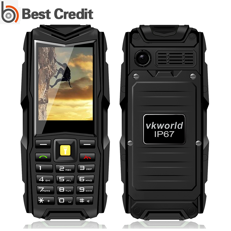 "Original Stone V3 Vkworld VKV3 rugged phone 2.4"" GSM 5200mAh BIG BATTERY 2MP Camera Dual Sim cellular Feature Phone(China (Mainland))"