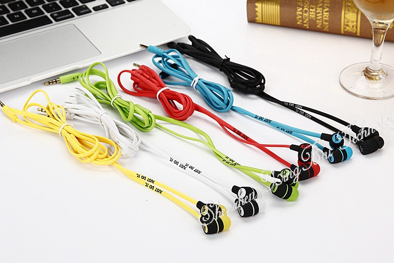 Just Do It 3.5mm In-ear Earbuds Headset Earphones without Microphone for iPhone Samsung Xiaomi Mobile Phones Mp3 MP4 MP5 Players