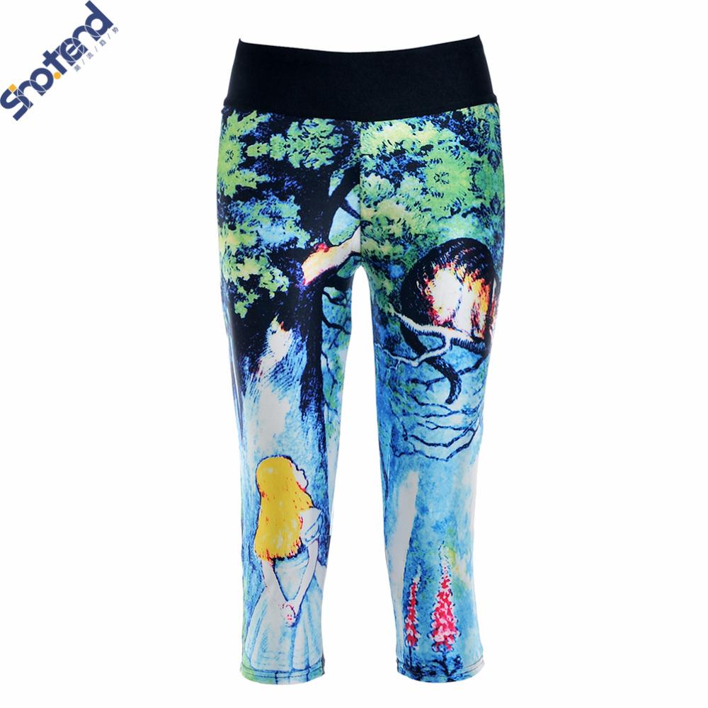 S.T Doris Leggings Girl's Sport Cropped Leggings Elastic Comfortable Stretch Fitness Leggings Workout Pants Fitness GYM Pants(China (Mainland))