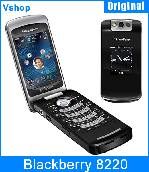 """Free Shipping Original Unlocked Blackberry 8220 Pearl Flip Mobile Phone 2.6"""" TFT Screen 2.0MP Camera 2G GSM WiFi Cell Phone(China (Mainland))"""