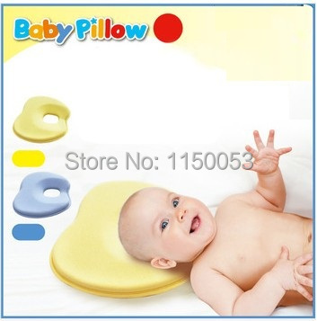 New Baby Lovely Memory Newborn Toddler Safe Anti Roll Baby Infant Pillow Sleep Head Positioner Preventing Flat Head(China (Mainland))