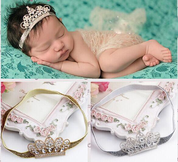 Гаджет  hair accessories Crystal crown hair band baby girls headwear Princess Baby Newborn Pearl Crown  For Newborn Infant Toddler None Одежда и аксессуары