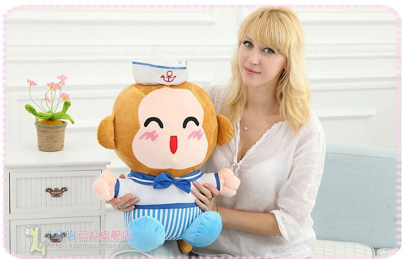 middle lovely plush monkey toy navy monkey doll smile monkey toy gift about 40cm(China (Mainland))