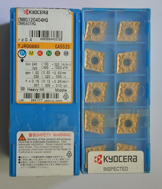 kyocera CNC cutting tungsten carbide inserts turning tools CNMG120404HQ CA5525(China (Mainland))