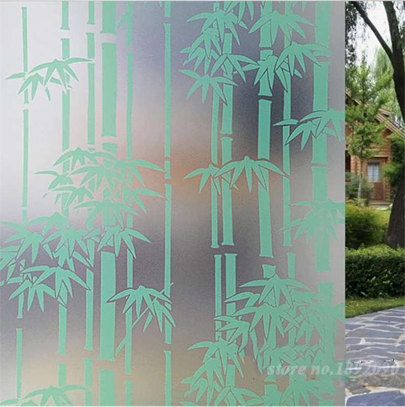 45 200cm 17 7 quot  78 8 quot  Home Decor Opaque Privacy Self adhesive. Online Get Cheap Pvc Frosted Glass Window Bamboo  Aliexpress com