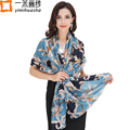 2016 Euro Luxury fashion trend chain print brand designer twill scarf shawl long soft wool for