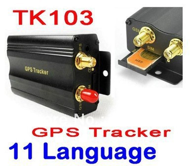 BY DHL OR EMS 20 PIECES TK103 coban gsm gprs Vehicle GPS Tracker car Alarm GPS103 Quadband Support 8 Kinds of Languages Free PC(China (Mainland))