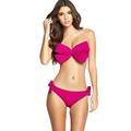 2016 Hot Sale Women Sexy Swim Wear Solid Swimwear Bikini Big Bow Bandeau Beach Wear Halter