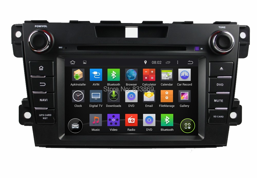 """1024*600 Android 4.4 HD 2 din 7"""" Car PC Radio DVD for Mazda CX-7 CX 7 CX7 2012-2014 With GPS 3G/WIFI Bluetooth IPOD TV AUX IN(China (Mainland))"""