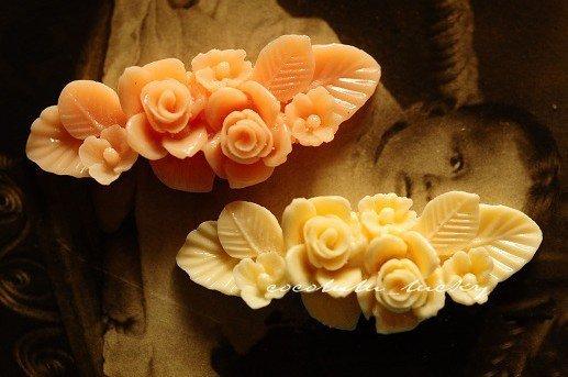 22*55mm resin cabochon bead Cameo FLOWER DIY flat jewelry Pendant Accessory wholesale 50pcs/lot