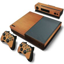 Wood Decal Skin For Microsoft XBOX ONE Skin Stickers + 2PCS Controller Skin Console Stickers For Xbox One(China (Mainland))
