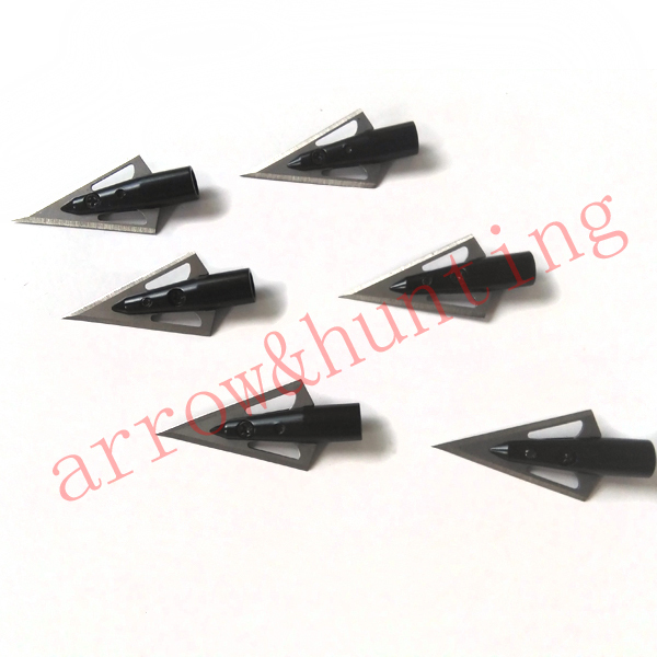 6 pieces lot hunting arrow head 100 grain outwear broadhead practice arrow point suitable for archery