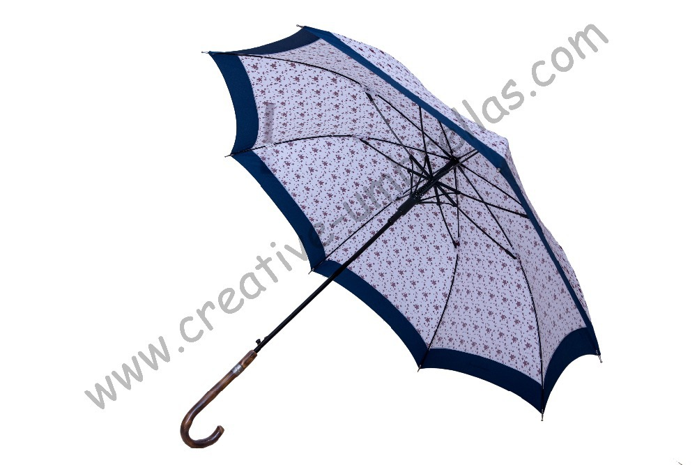 Straight rattan umbrellas,210T pongee Full stars printed design,auto open,70T alloy shaft for bine parasols,vine handle+PAK(China (Mainland))