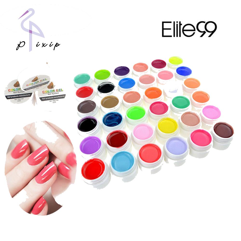 36 Colors Pure Color UV Nail Gel Polish Extension Professional Nail Gel Art Decorations Tools Manicure Nail Polish(China (Mainland))