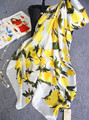 new seaside sun protection Women scarf Lemon pattern Thin section shawl spring summer and autumn Imitation