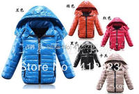 Retail children winter jackets outwear for boys girls winter clothes Down coats jackets kids boy thick coats