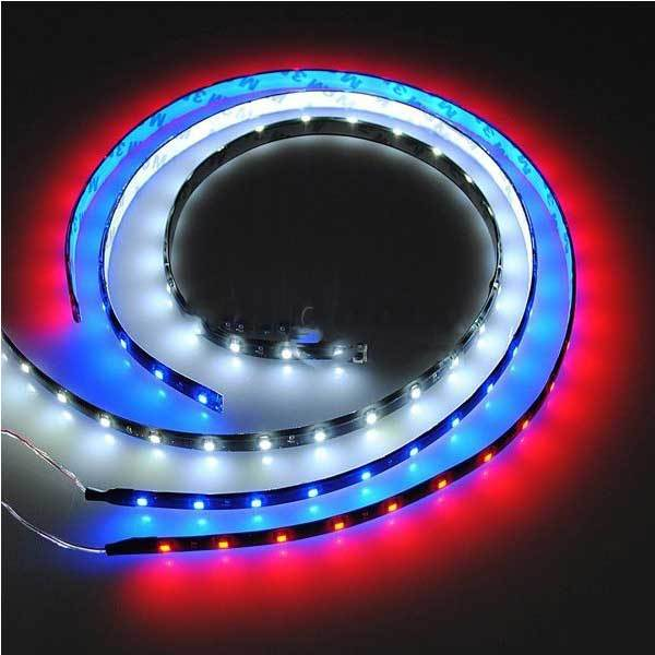 Agatedeal 60cm 30 smd led flexible neon strip light car - Neon led 12v ...