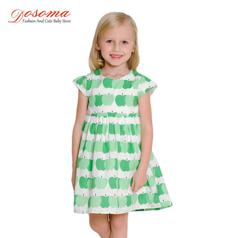 Baby girl dress summer 2016 new infant casual cotton girl dress short sleeve apple pattern dresses girl bow princess dresses<br><br>Aliexpress