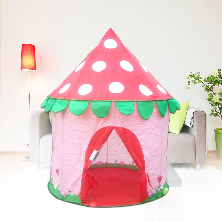 intelligence Mushroom design princess castle, play house, play ground, games play, racing games, play tent Christmas gift(China (Mainland))