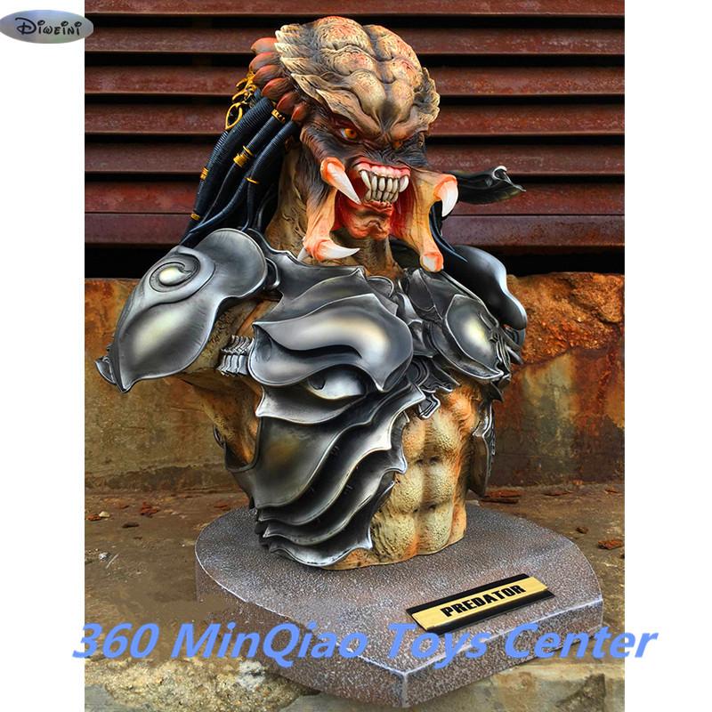 Aliens VS Predator Statue Predator Bust 1:2 Takayuki Takeya Head Portrait Collectible Model Avatar Toy WU842(China (Mainland))