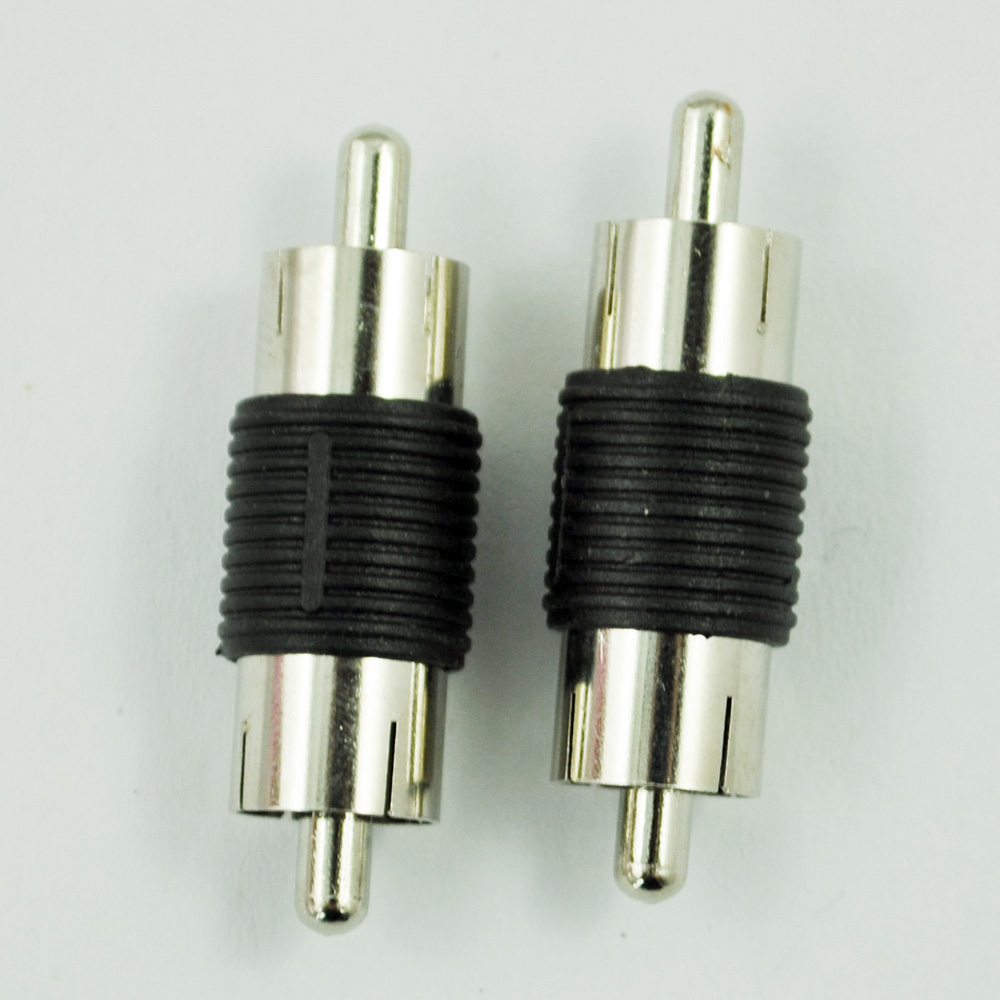 SODIAL(R) 2 Pieces RCA Male to Male RCA Coupler Connector Adapter