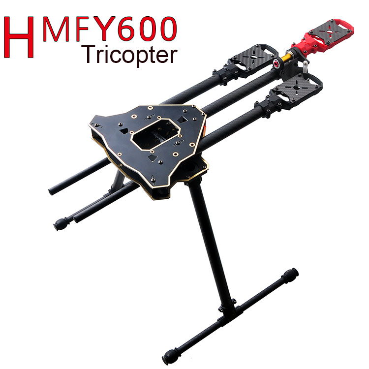 F10811 HMF Y600 Tricopter 3 Axis Copter Frame Kit W/ High Landing Gear &