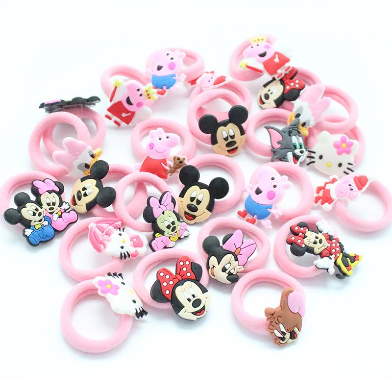 2 PCS/Lot Fashion Kids Rubber Headbands Soft Fabric Cartoon Girls Headwear Children Hair accessories Hair Elastic Hair Bands(China (Mainland))