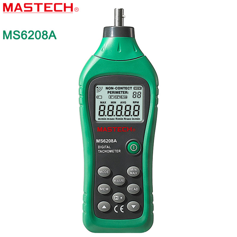 MASTECH MS6208A Contact Digital Tachometer RPM Meter Rotation Speed 50-19999RPM(China (Mainland))